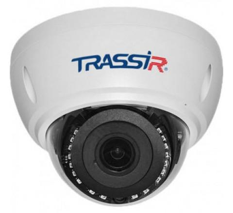 Вандалостойкая сетевая 2Мп Dome-камера TRASSIR TR-D3122WDZIR2 с ИК-подсветкой до 25 м и motor-zoom