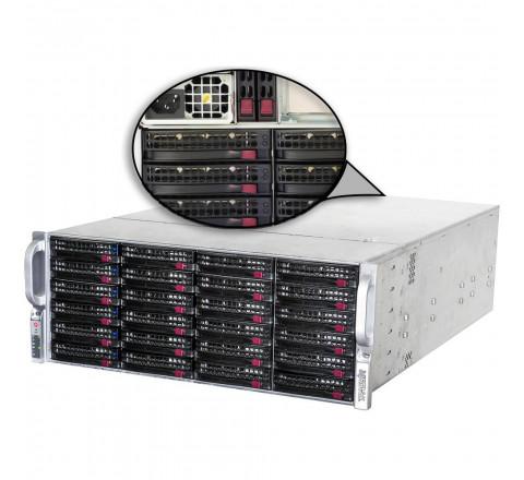 Стоечный сервер с 36 HDD 6ТБ в комплекте TRASSIR UltraStation 36/6 SE AnyIP 128 с лицензиями TRASSIR